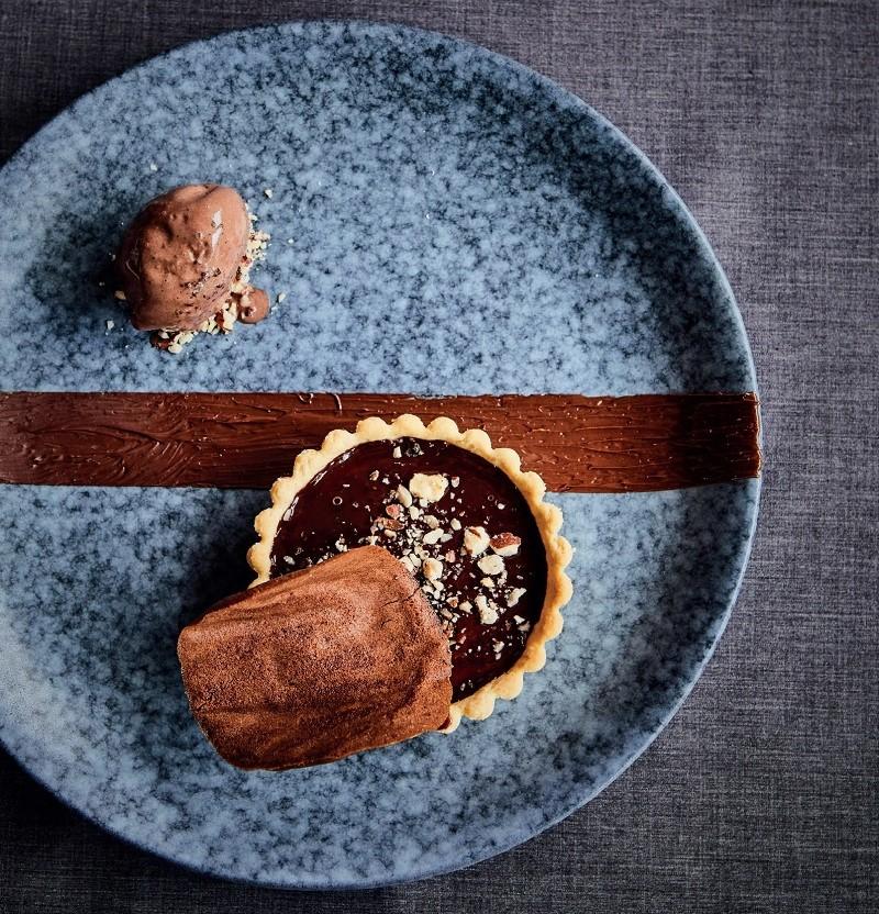 Chocolate and Hazelnut Tart Recipe By Chef Adrian