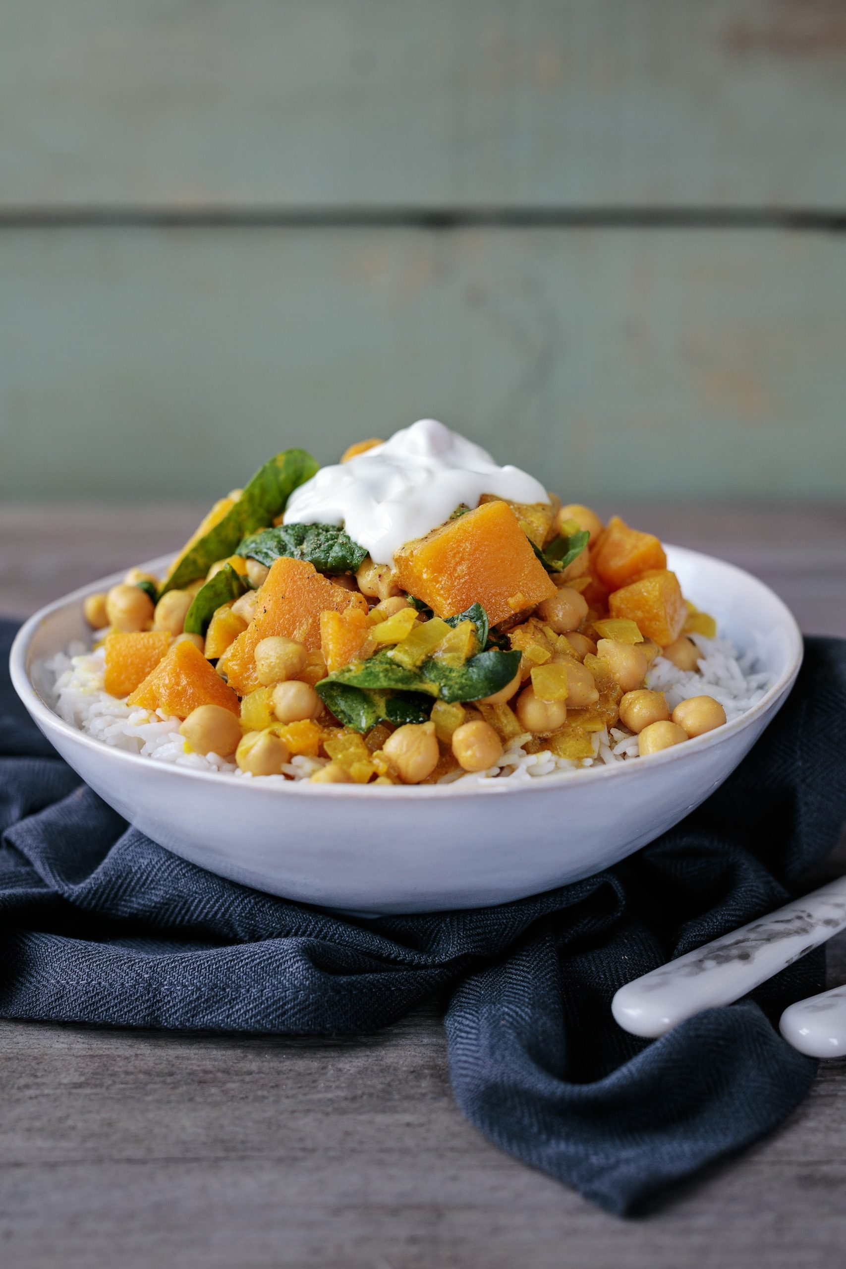 Glenisk's Chickpea Spinach Squash Curry Recipe