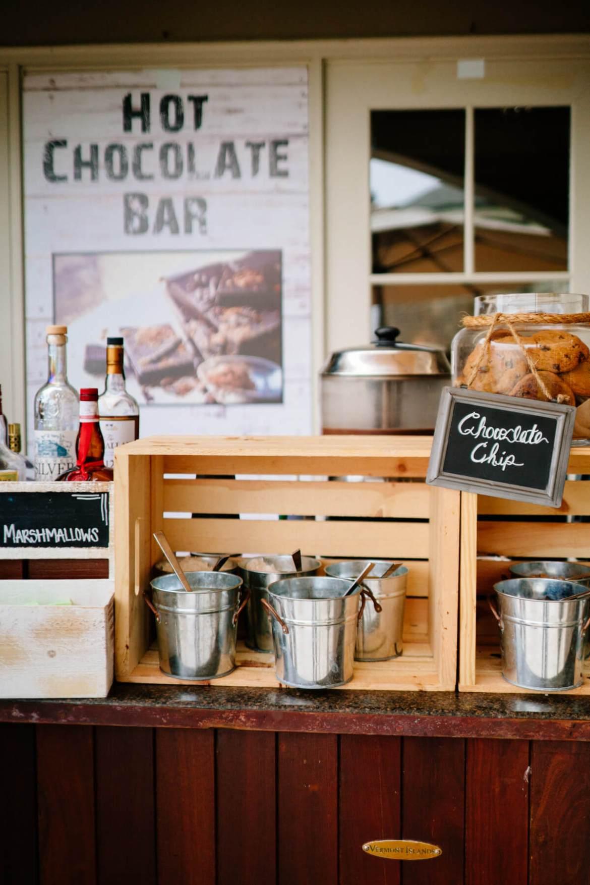 Hot chocolate bar at The Ritz-Carlton Half Moon Bay