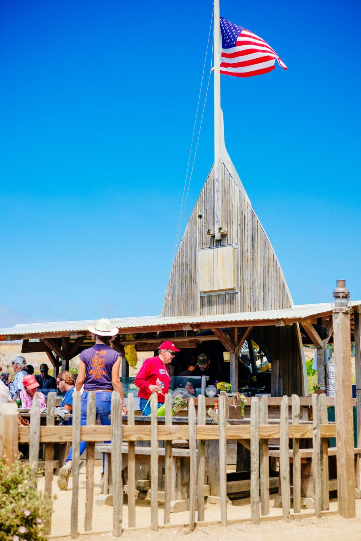 The Boat House at Hog Island Oyster Farm in Marshall, Ca - Tamales Bay