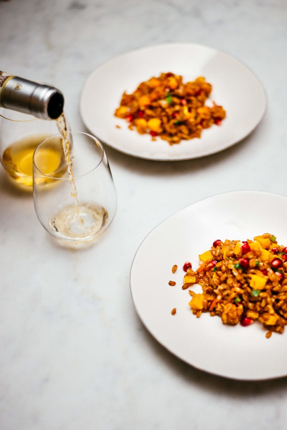 This wine is perfect with the autumn farro salad with an olive oil dressing