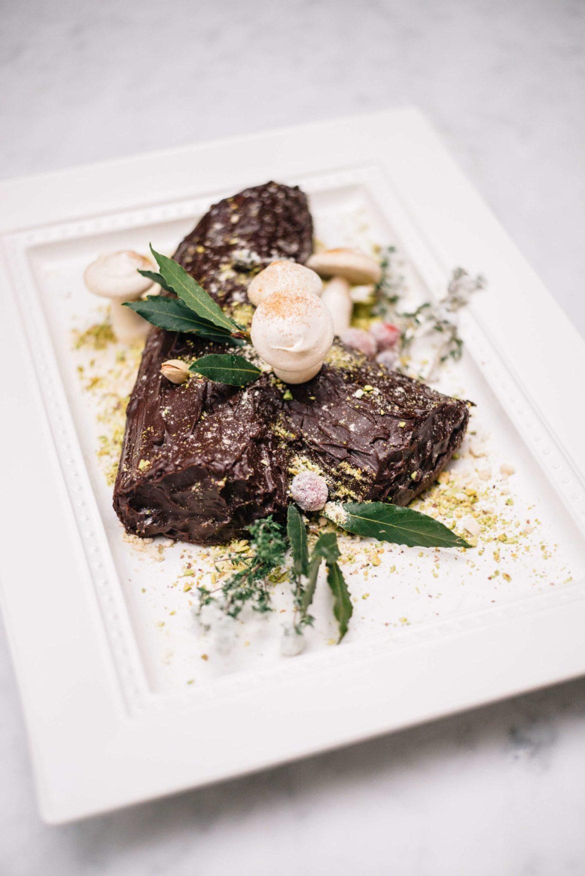 The Taste Edit makes a Bouche de Noel Christmas Yule Log is a traditional european cake