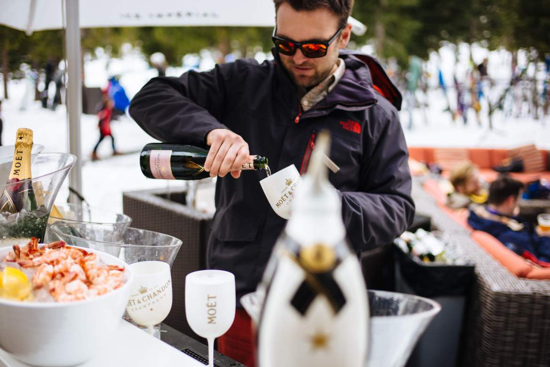 The Ritz-Carlton Lake Tahoe Apres Ski with shrimp and Moet Chandon, The Taste Edit