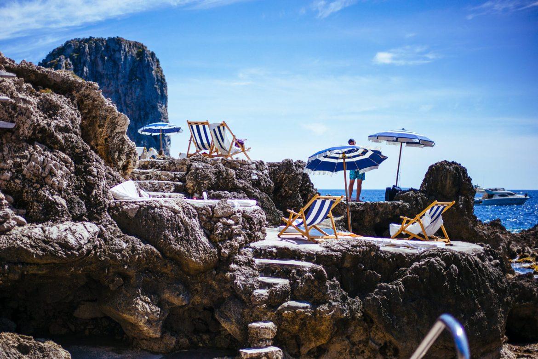 Beach Club and Ristorante La Fontelina in Capri, Italy makes delicious simple fresh pastas, The Taste Edit