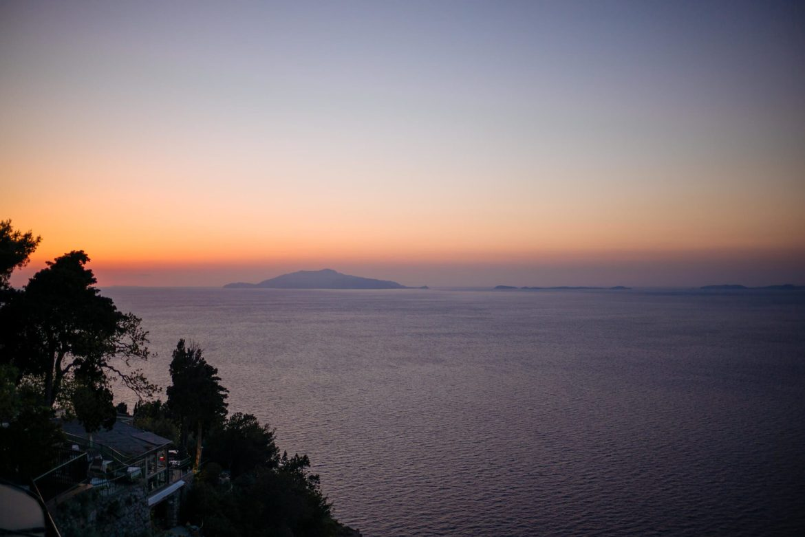 Terrace at Hotel Caesar Augustus in Capri is the perfect place to watch the sunset - says The Taste Edit