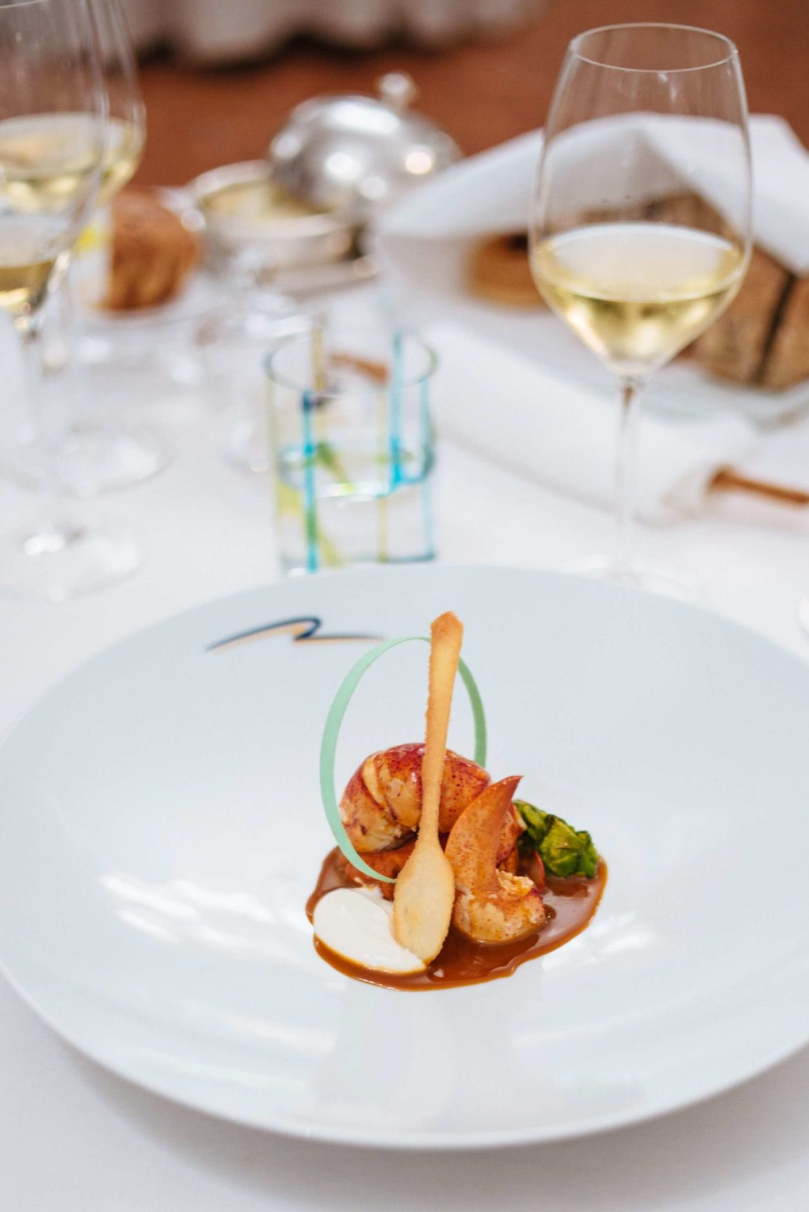 Lobster served at Rossellini's Restaurant in Palazzo Avino, Ravello Italy, The Taste Edit