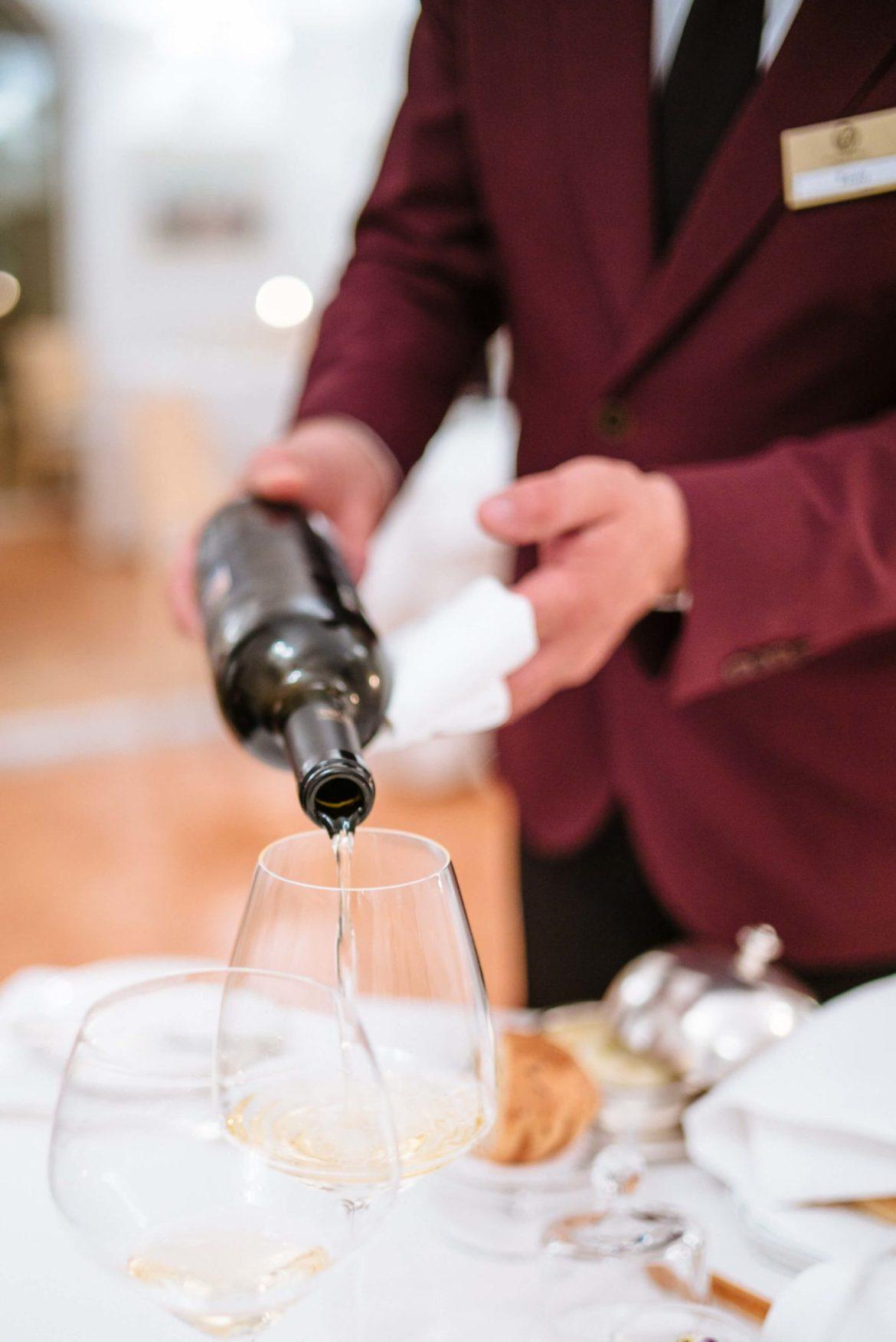 Wine pairings served at Rossellini's Restaurant in Palazzo Avino, Ravello Italy, The Taste Edit
