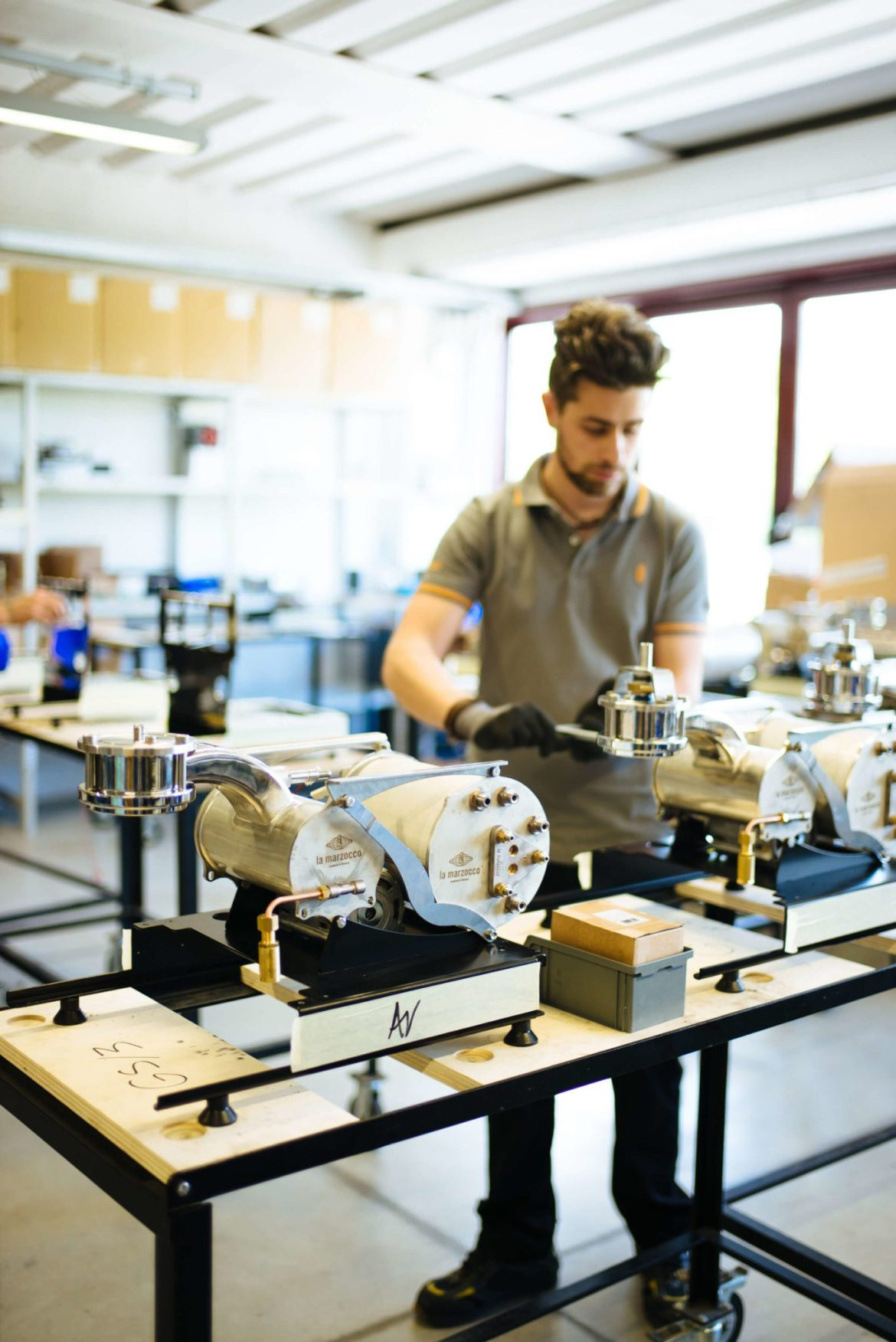 Assembly of GS3 Espresso machine from La Marzocco Factory Tour in Florence, The Taste Edit