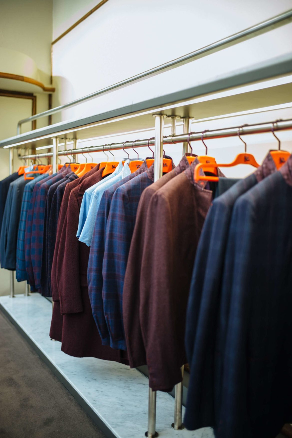 Isaia Suits at the Isaia San Francisco Store, Neapolitan Isaia suits in the historic VC Morris Frank Lloyd Wright San Francisco, The Taste Edit