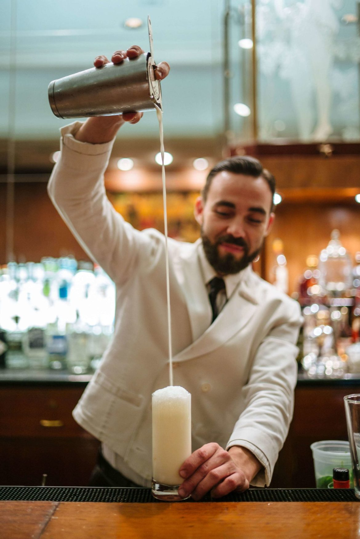 How to make a Ramos Gin Fizz from The Sazerac bar at the roosevelt hotel in New Orleans, The Taste Edit