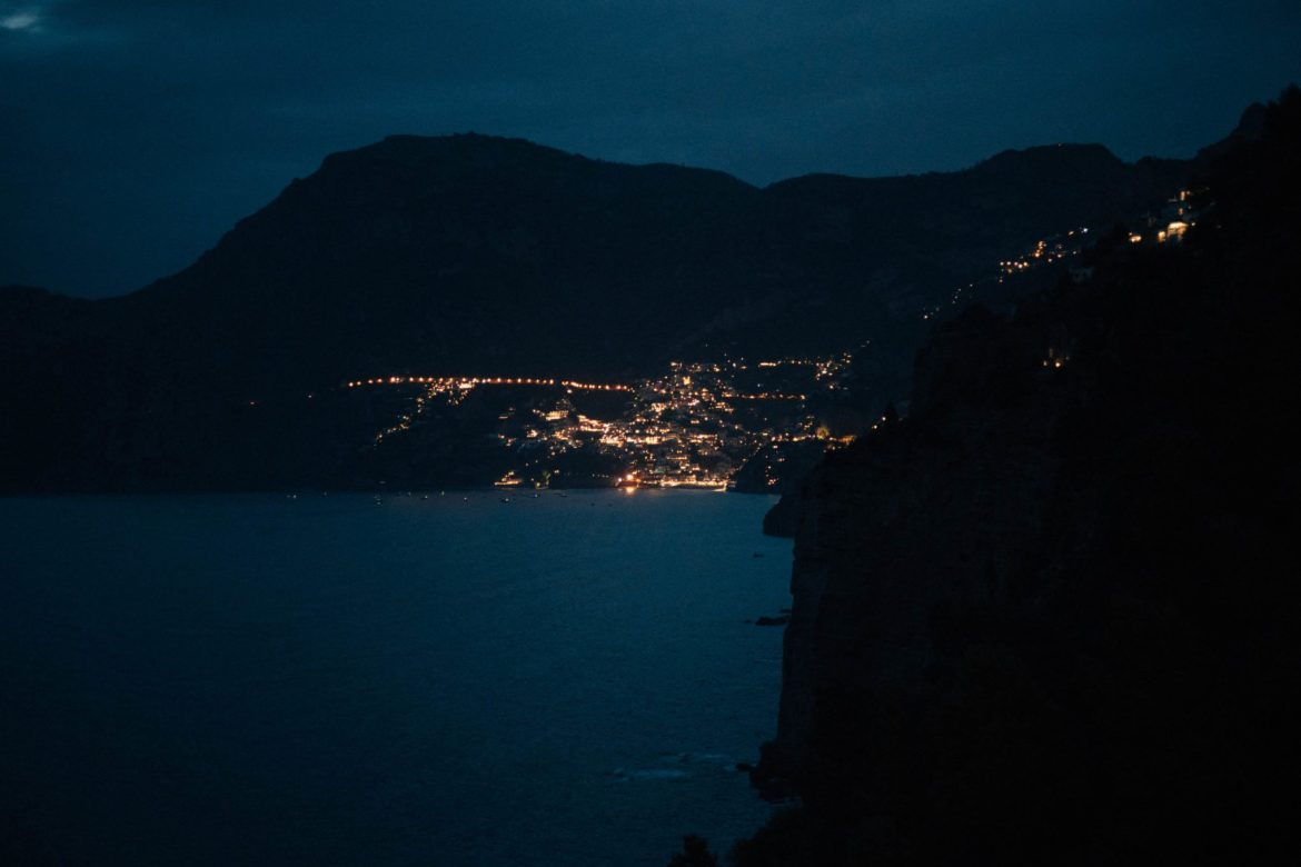 A new of Positano at night, The Taste Edit