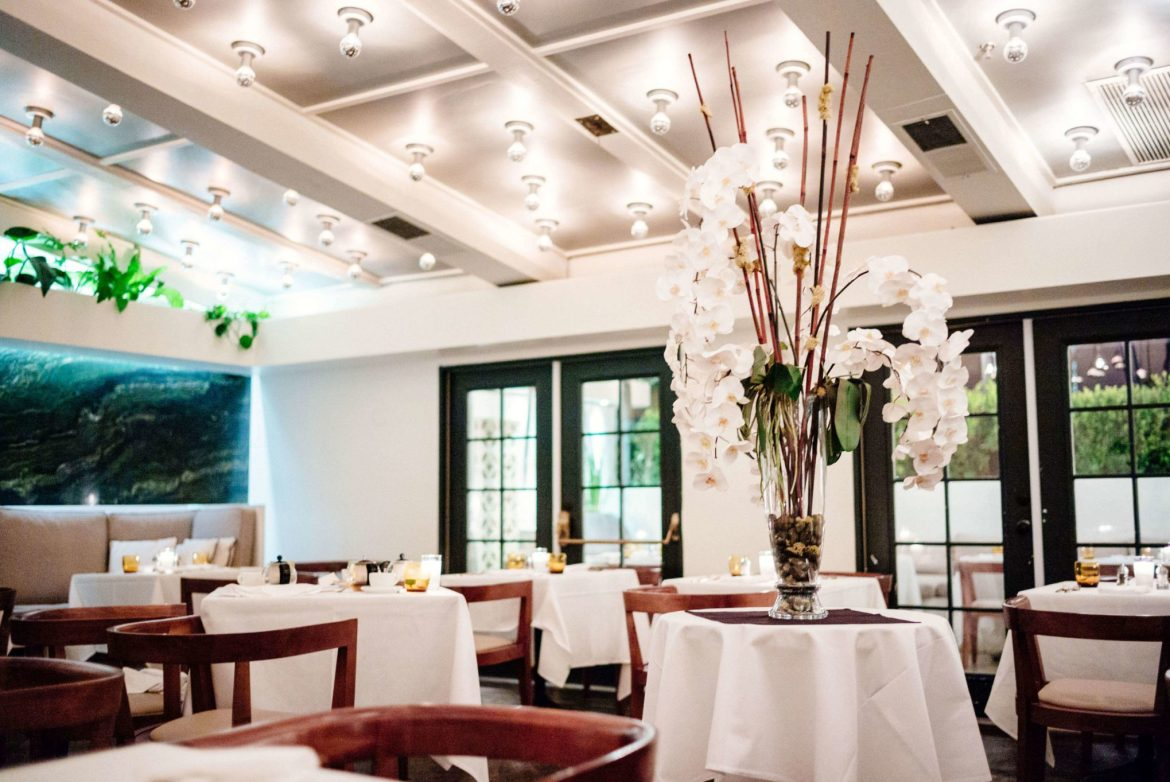 A beautiful fine dining room set at Mr Lyon in Palm Springs, The Taste Edit
