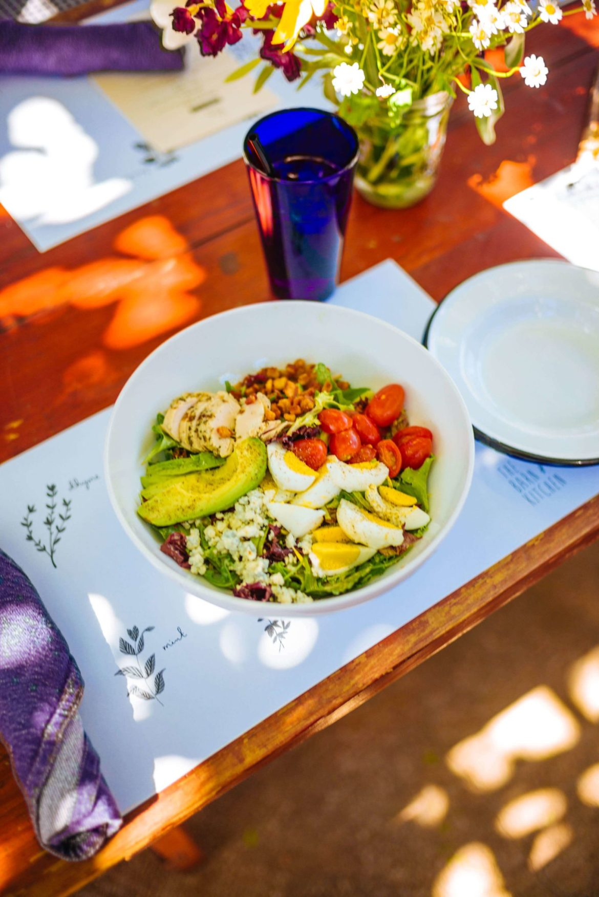 You'll find the best brunch in Palm Springs at this hidden gem the Barn Kitchen at Sparrows Lodge in Palm Springs, thetasteedit recommends the cobb salad!