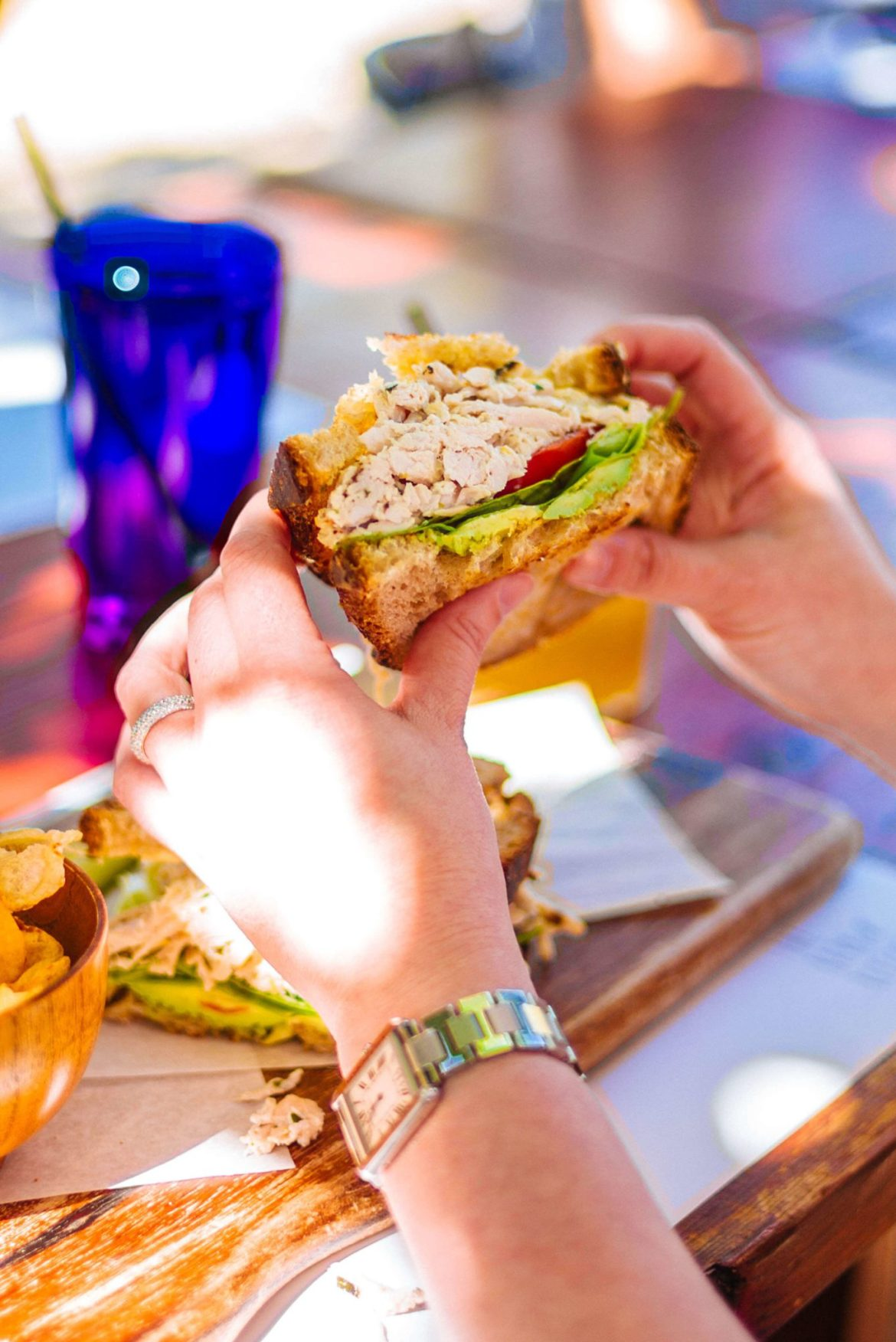 You'll find the best brunch in Palm Springs at this hidden gem the Barn Kitchen at Sparrows Lodge in Palm Springs, thetasteedit recommends the chicken salad!