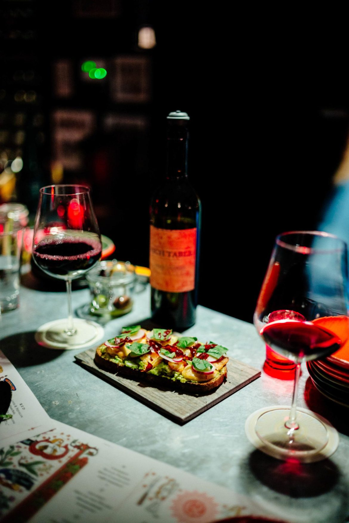 Visit this hidden wine bar in Palm Springs Counter Reformation - the bread is freshly baked! The Taste Edit recommends trying vocado, holoumi, and rye tartine