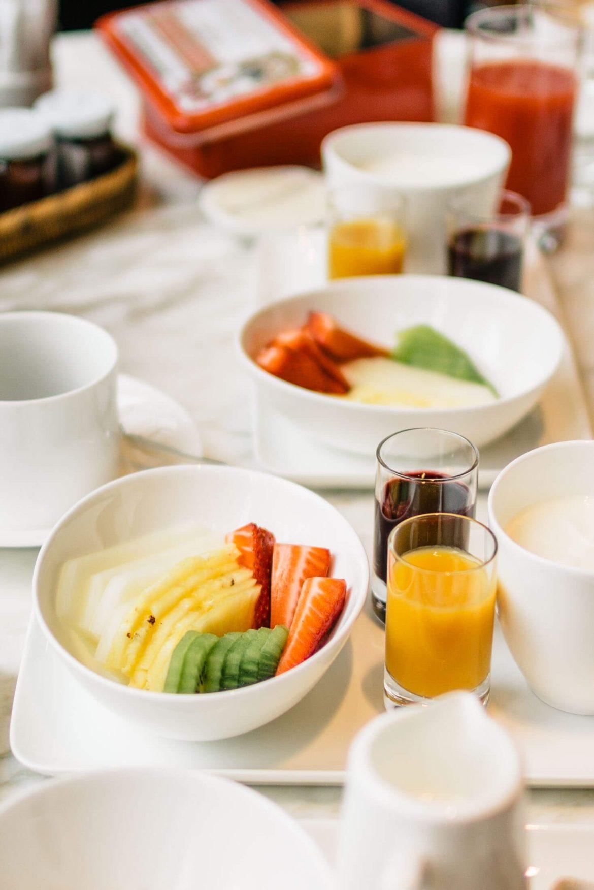Yogurt and fruit for breakfast at Hotel Bulgari Milano, The Taste Edit