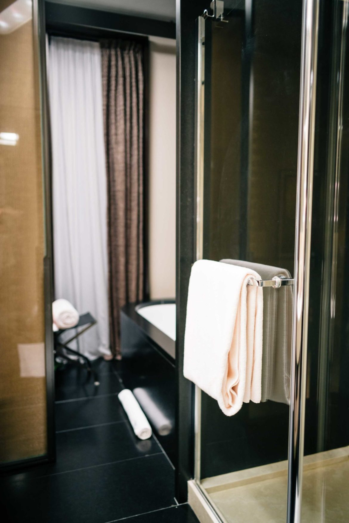 Stay at the Bulgari hotel who offers large bathrooms with Bulgari toiletries and black marble at the Hotel Bulgari Milano, The Taste Edit