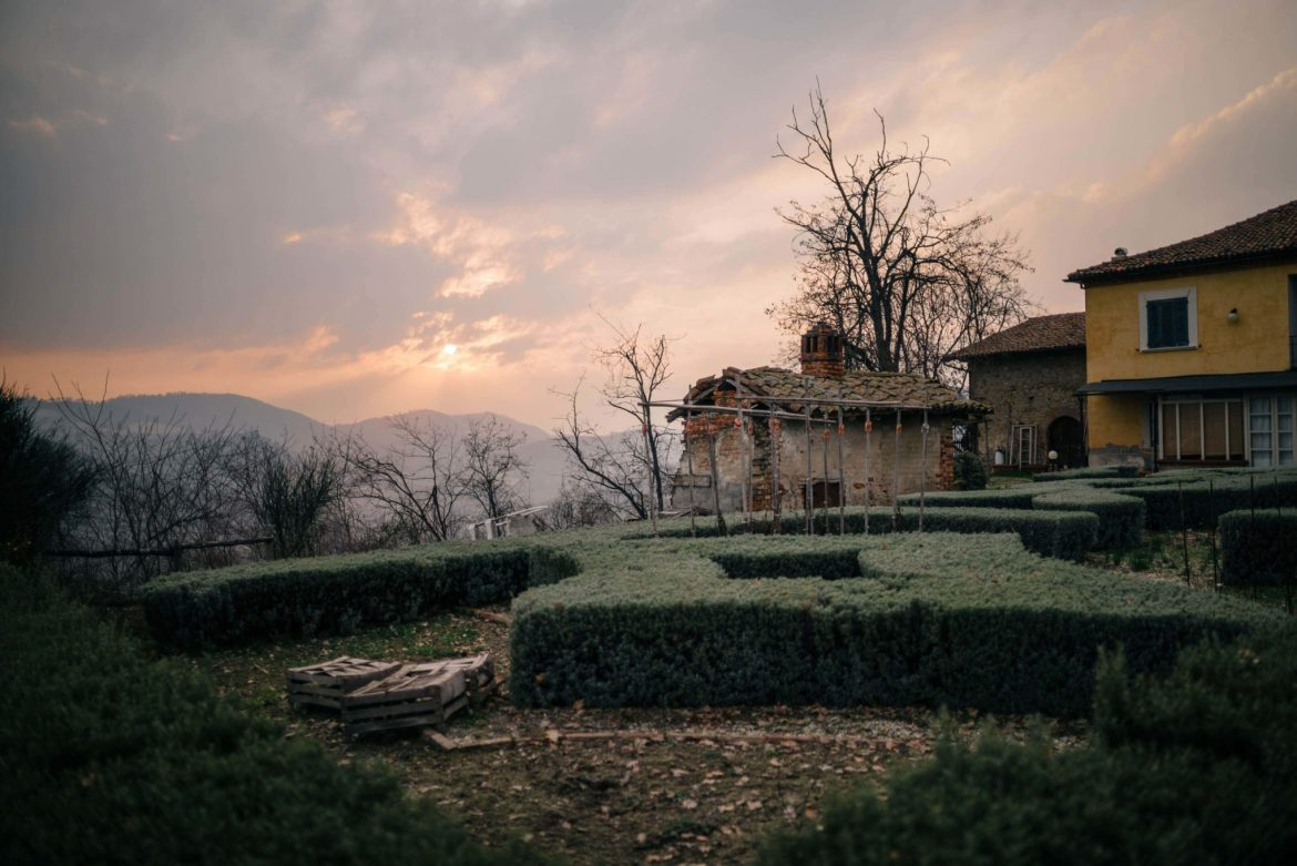The Taste Edit, culinary photographers, recommends visiting this magical winery in northern Italy. Castello di Stefanago is near the town of Pavia in Lombardy. Winemaker and owner Giacomo Baruffaldi gives us a tour of the winery where they make Baruffaldi natural wines. Antonio Baruffaldi's home and gardens at sunset.