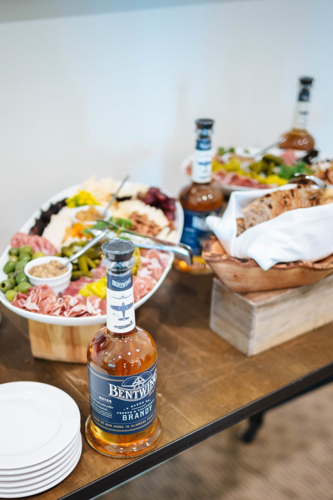 The Taste Edit attends the Hangar 1 Distillery launch party for Bentwing Brandy in Napa Valley at Meadowood appetizers