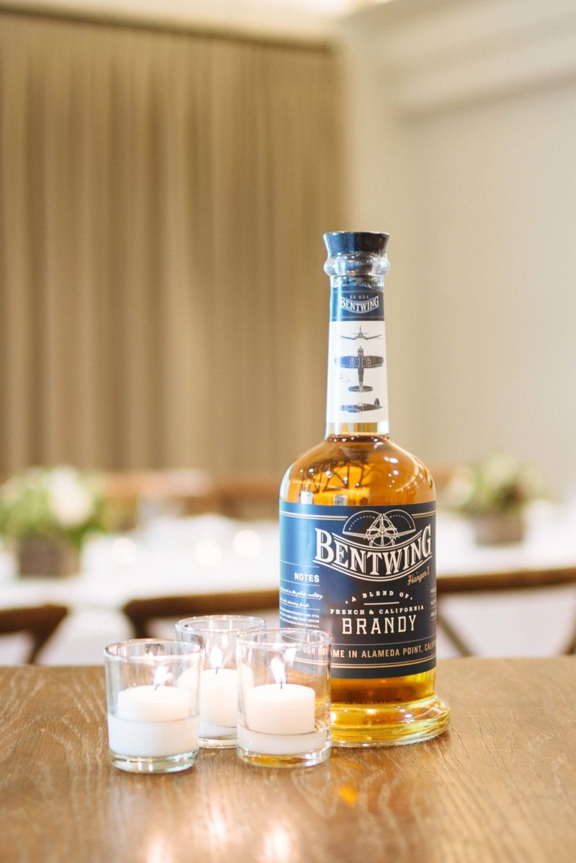 The Taste Edit attends the Hangar 1 Distillery launch party for Bentwing Brandy in Napa Valley at Meadowood dinner table