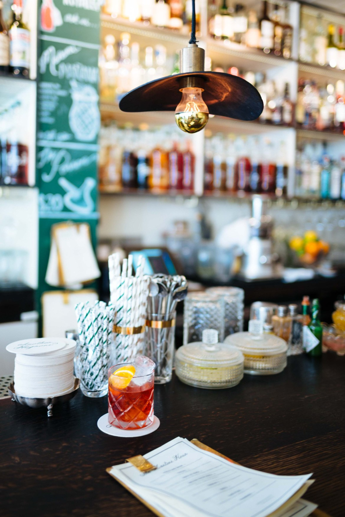 Negroni at Dante in New York City - historic greenwich village bar photo by Sarah Stanfield of The Taste Edit