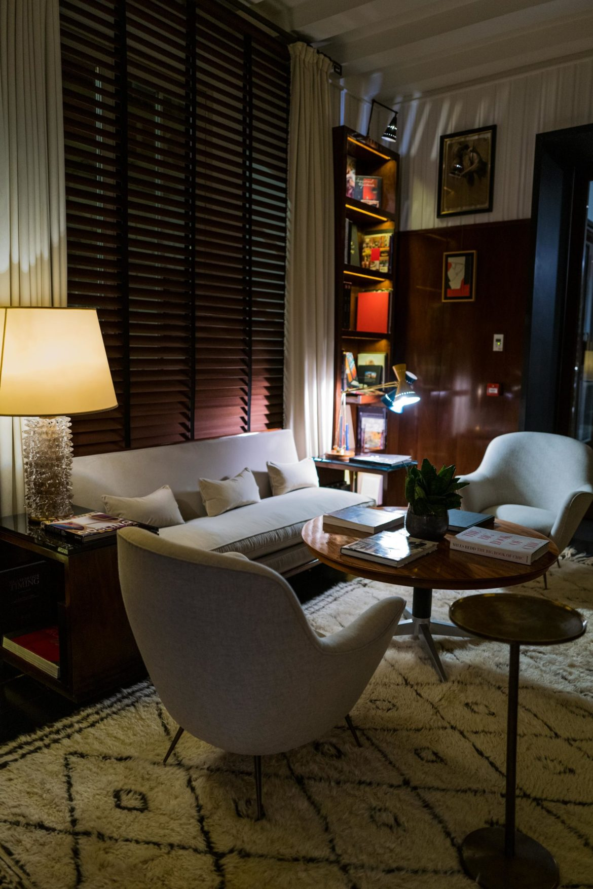 Have aperitivo in this library -like setting at JK Place Roma hotel in Rome, The Taste Edit #hotel #rome #travel #decor
