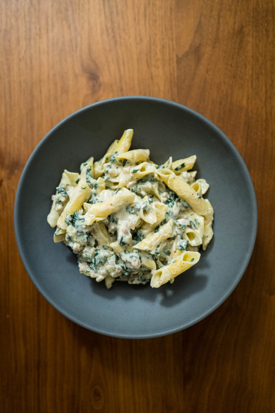 Make this easy Swiss chard, ricotta, sausage pasta for a quick weeknight dinner, The Taste Edit #recipe #pasta #swisschard #easy