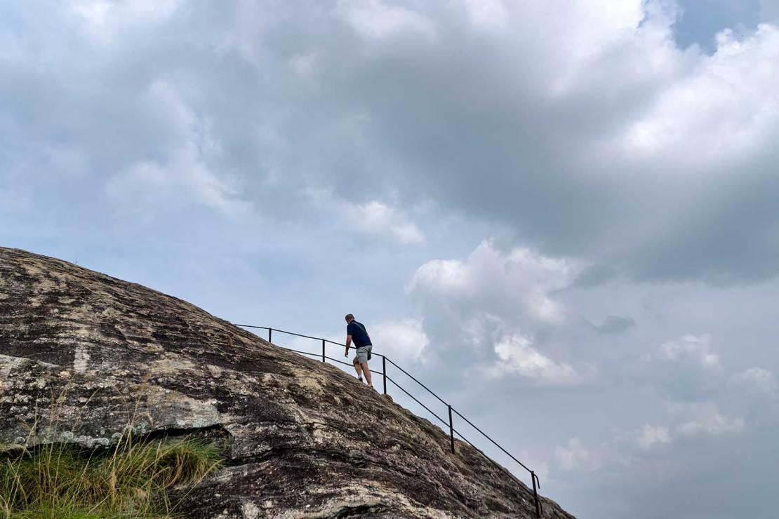 Yapahuwa, Droga na szczyt Góry