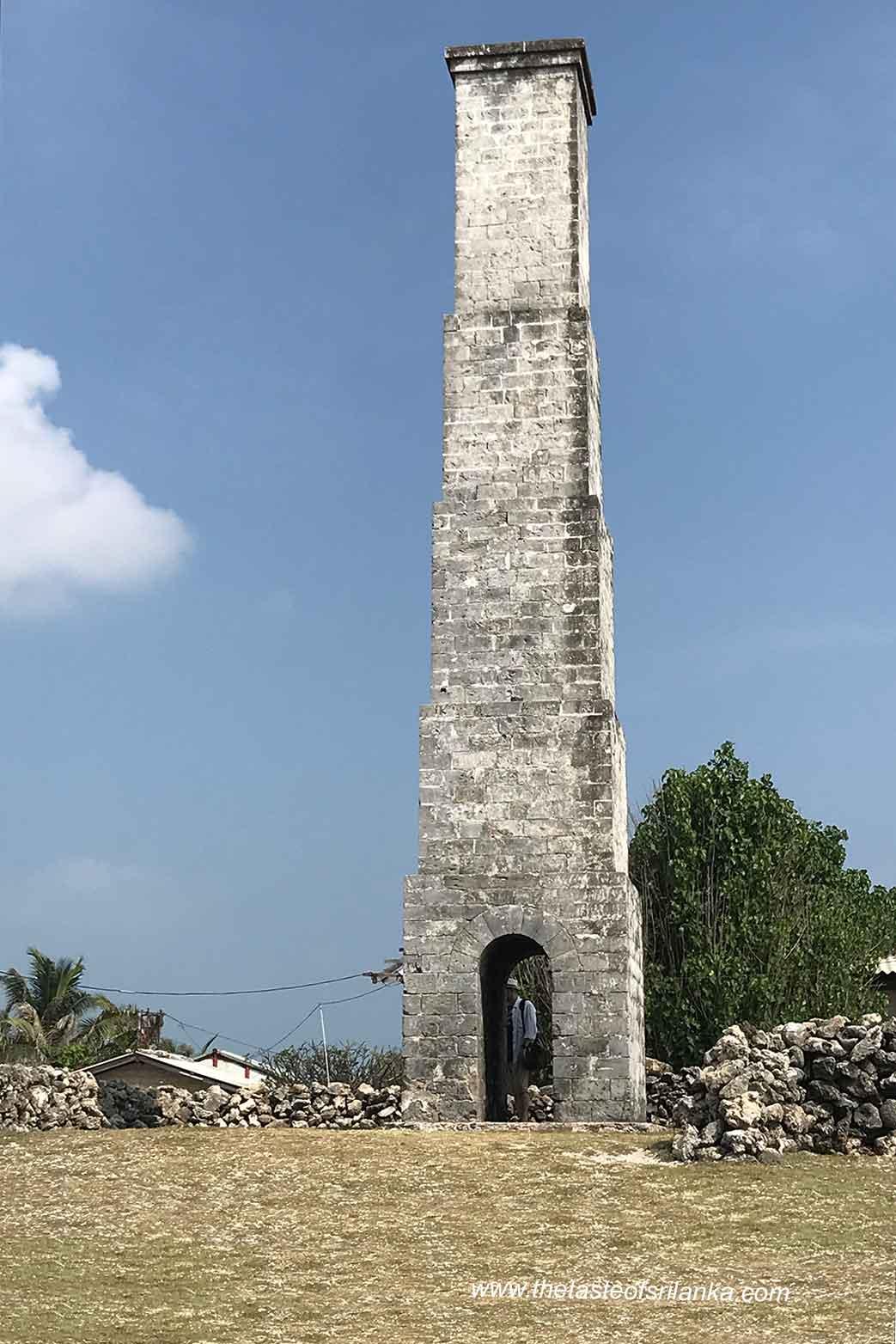 Queens Tower, wieża nawigacyjna , Wyspa Delft, Sri lanka