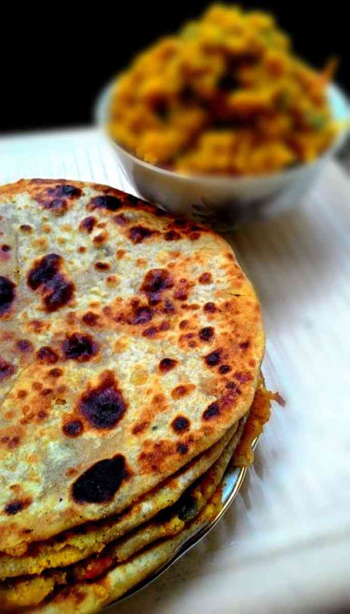 Stuffed Chana Dal Paratha - Indian Stuffed Flatbread