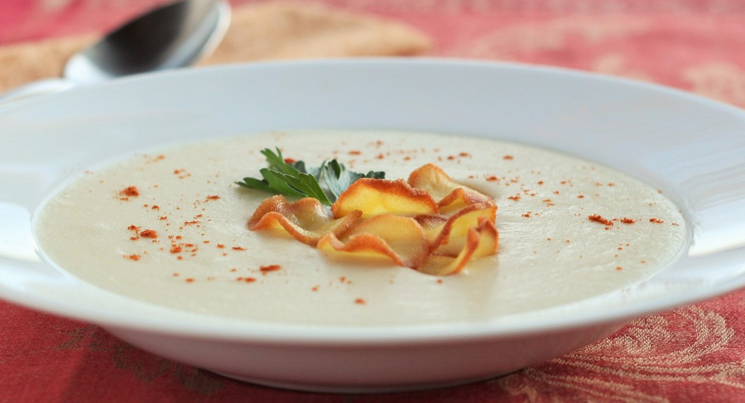 Parsnip Puree Soup and Crisps