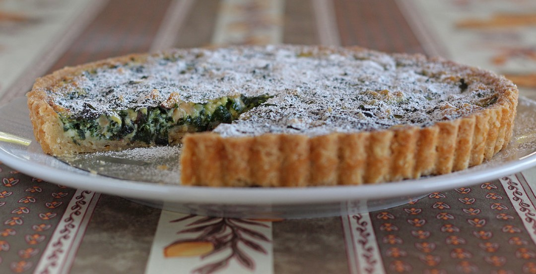 Swiss Chard Hazelnut Dessert Tart |Tarte Sucrée Aux Blettes et Noisettes