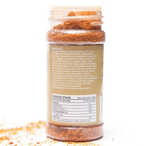 Bacon Salt Ingredients and Nutritional Information