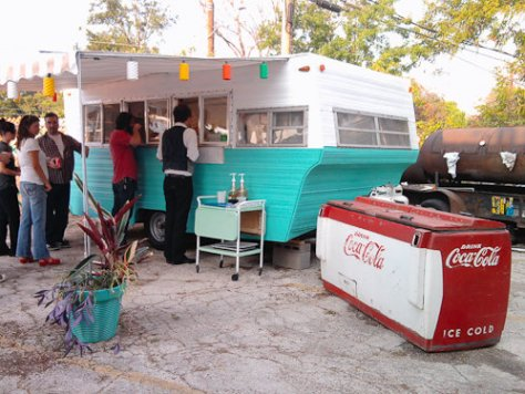 Franklin BBQ truck w/ Vintage cooler - Austin, Texas
