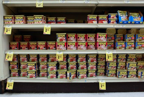 SPAM at the supermarket in Hawaii