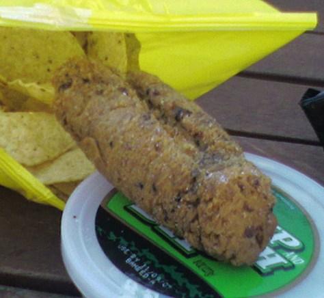 Big, Brown, Fried corn tortilla clump