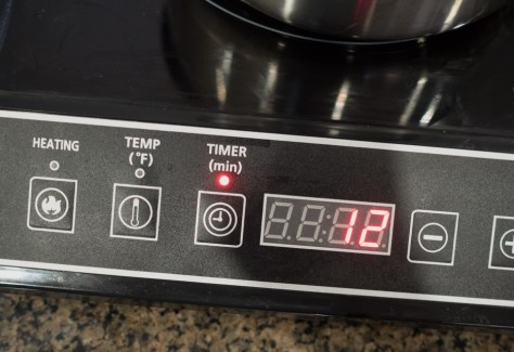 Induction cooker timer