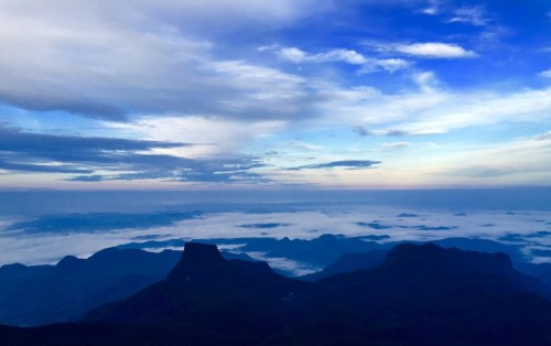 The view, looking north towards India, Adams Peak, Sri Lanka December 2015
