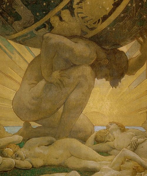 Atlas and the Hesperides, Jon Singer Sargent 1925