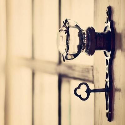 doorknob and vintage key