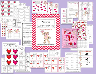 Valentine's Day Centers and a FREEBIE