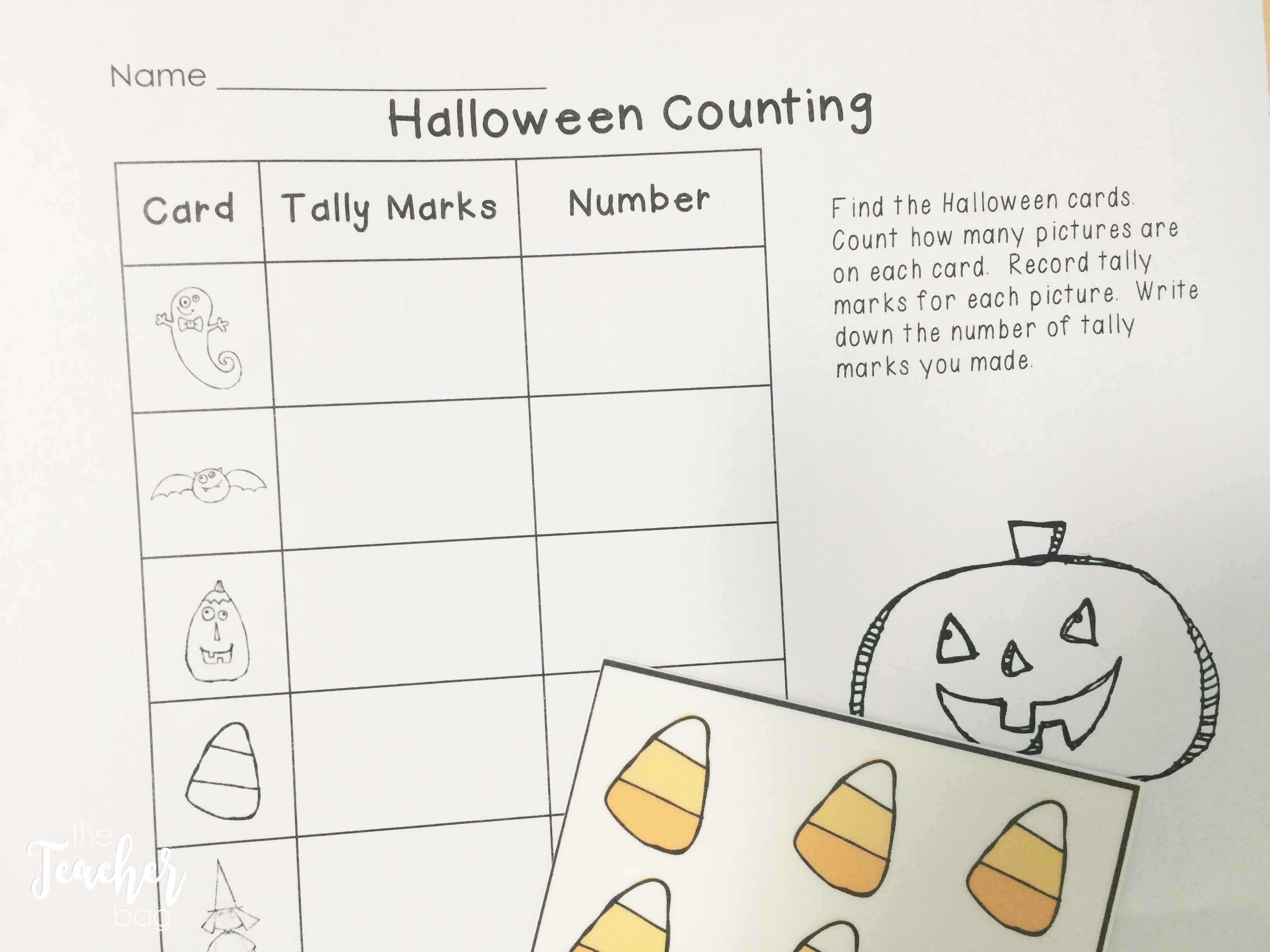 Halloween math- counting