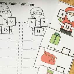 Christmas math- fact families