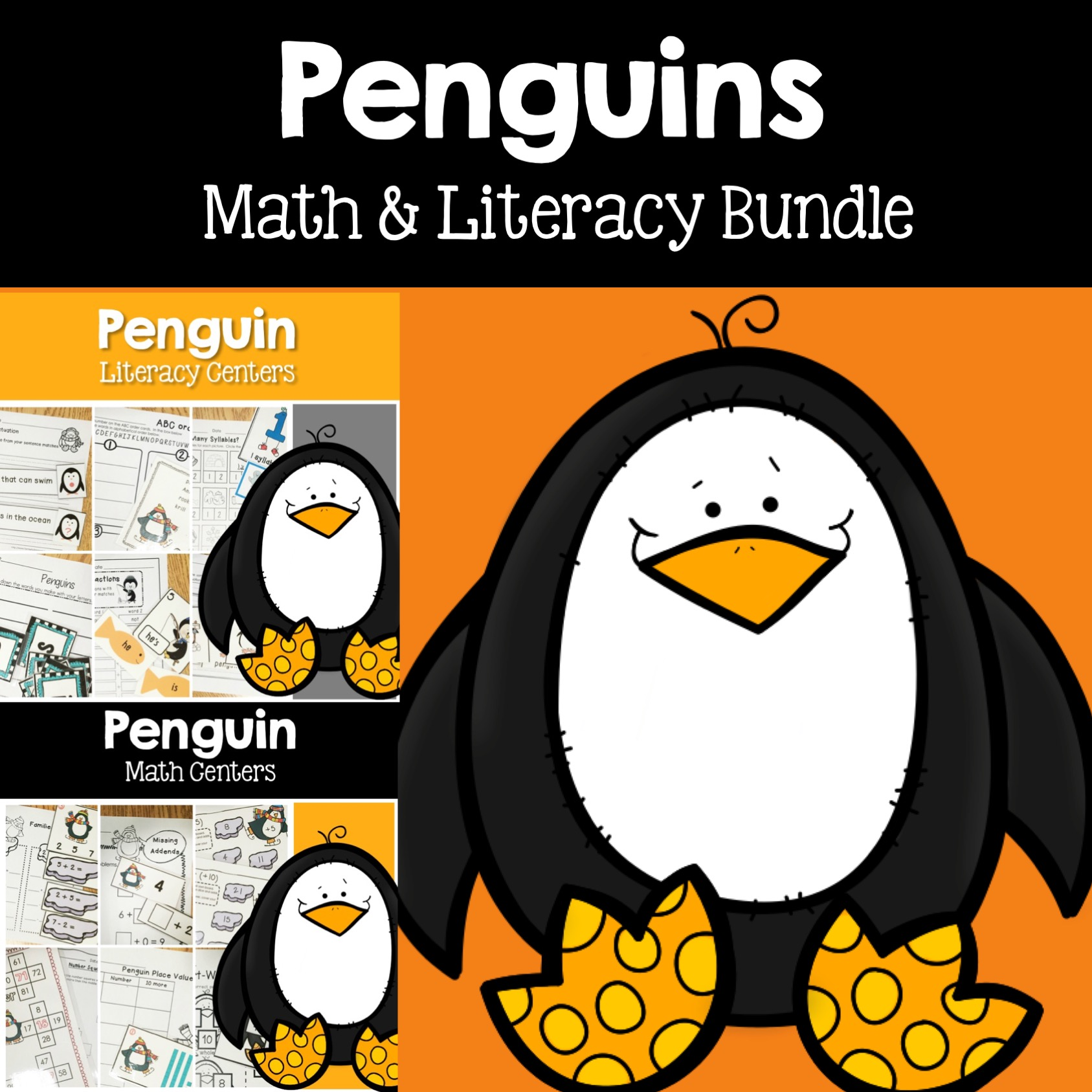 Penguin math and literacy bundle