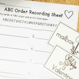 Valentine's Day Literacy Centers- ABC order