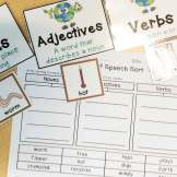 Nouns, Verbs, Adjectives Sort