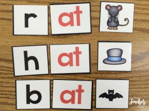 building word family words