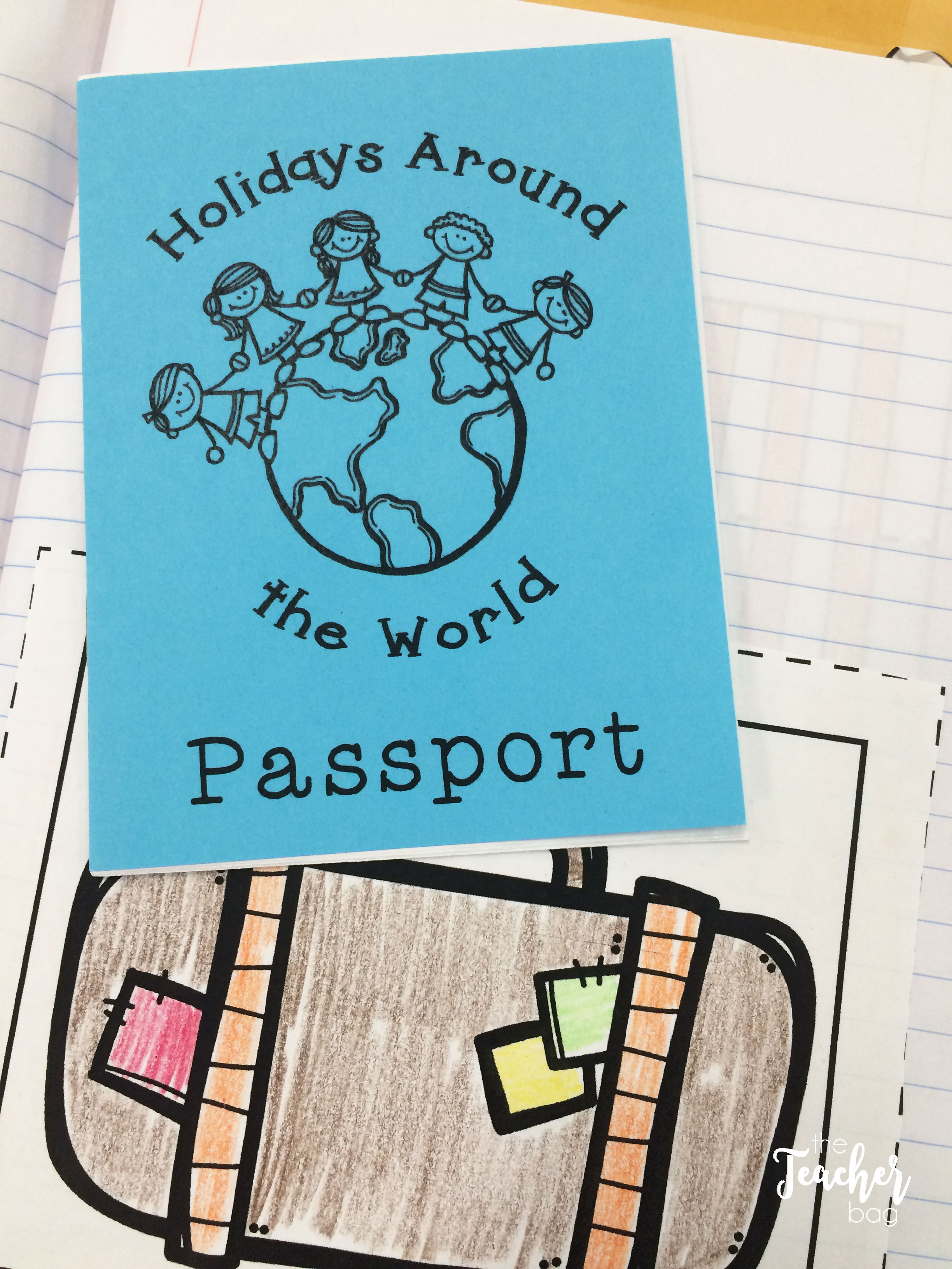 Holidays around the world interactive notebook passport
