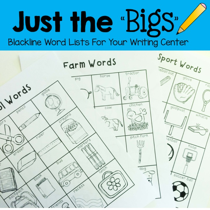 Just the Bigs- writing lists for young writers