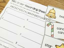 Christmas centers- ABC order